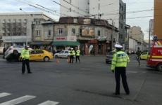 accident masina politie taxi