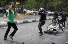 violente protest iran