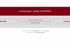 romania.travel suspendat