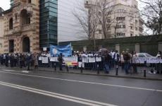Protest FSLI la Ministerul Muncii