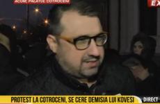 Daniel Dragomir protest