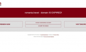 romania.travel suspendat
