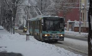 ninsori, troleibuz, zăpadă, străzi înzăpezite