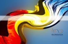 drapel, tricolor, steag centenar Marea Unire