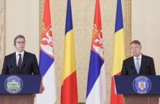 Klaus Iohannis si Aleksandar Vucic la Cotroceni