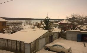 zăpadă portocalie