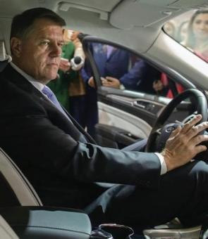 Inqaum Klaus Iohannis masina sofer
