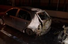 mașina incendiată București