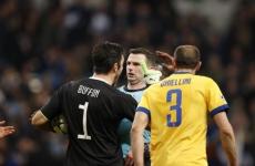 Buffon Chellini Juventus