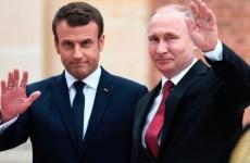 Emmanuel Macron Vladimir Putin
