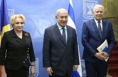 Viorica Dăncila Benjamin Netanyahu Teodor Meleșcanu Dăncilă Netanyahu Dăncilă