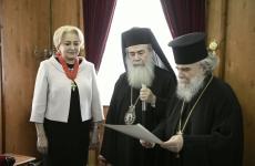 Viorica Dăncilă Patriarhul Ierusalimului