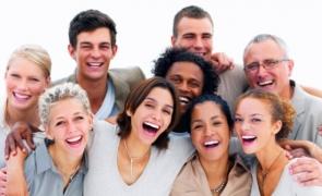 zâmbete, râs, oameni