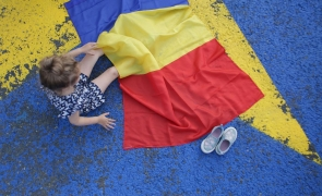 Inquam steag romania tricolor drapel
