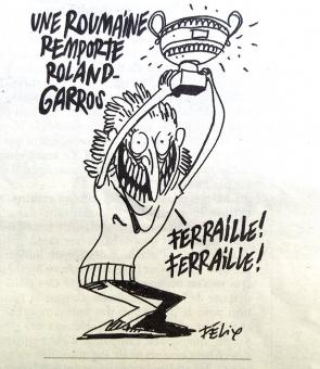 Simona Halep caricatura