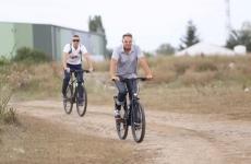 Inquam Klaus Iohannis bicicletă