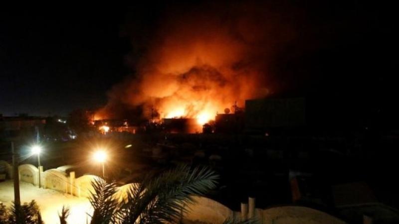 incendiu Basra Irak