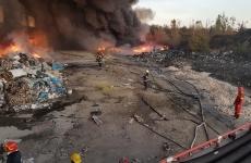 incendiu depozit mase plastice