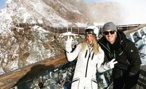 Simona Halep la munte in Austria