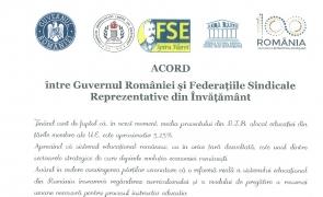 acord guvern sindicate invatamant
