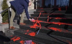 ministerul justitiei vandalizat