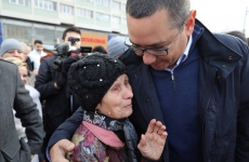Victor Ponta în campanie electorală.