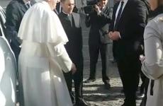 Papa Francisc alături de reprezentanții instituților de securitate din România.