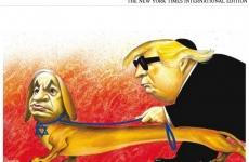 caricatura NY Times Trump Netanyahu