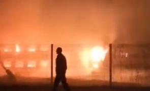 incendiu gara tren