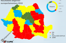 harta europarlamentare 2019