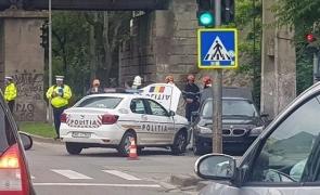 Accident Timisoara, autospeciala politie BMW