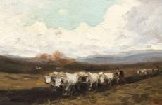 Plugul cu boi, de Nicolae Grigorescu