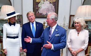 Donald Trump, Melania Trump, Charles, ceai.
