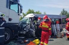 accident TIR microbuz Satu Mare