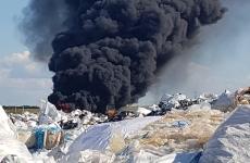 incendiu depozit la Bihor