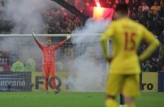Inquam România Suedia fotbal nationala petarde