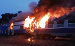incendiu tren
