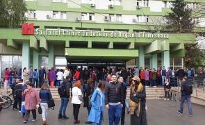 Protest Spitalul Judetean Timisoara