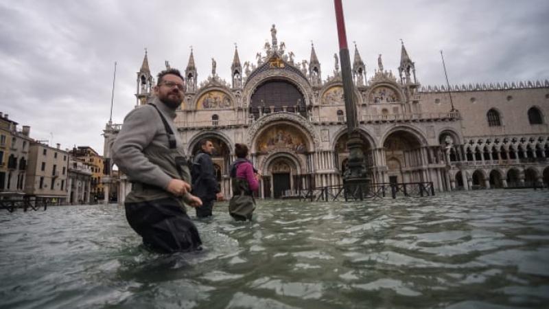 Veneția, în stare de alertă: ar putea fi din nou inundată. Meteorologii au anunțat ploi torențiale
