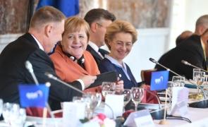Klaus Iohannis Angela Merkel Ursula