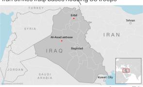 irak baze iran