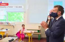 emmanuel macron vizita scoala