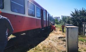 biciclist tren arad 1