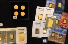 Lingouri de aur în expoziția Licitației de Aur și Argint