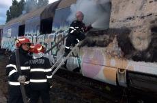 incendiu vagon tren