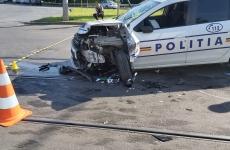 masina politie accident