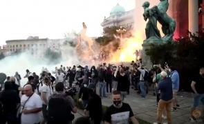 Serbia protest Belgrad