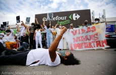 supermarket, Brazilia, proteste,