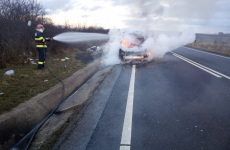 incendiu, mașină, cluj