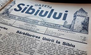 Unirea Principatelor, Mica Unire, Gazeta Sibiului